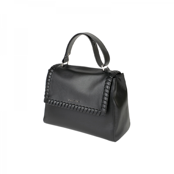 Orciani Liberty Bag Media Nera con tracolla