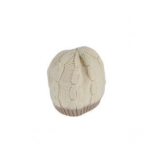 Raffello Bettini cappello in cashmere bianco e avorio