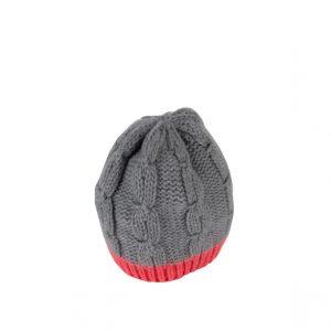 Raffello Bettini cappello in cashmere grigio e aragosta