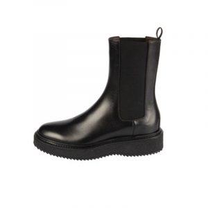 Hazy Chelsea Boot in Pelle Nera